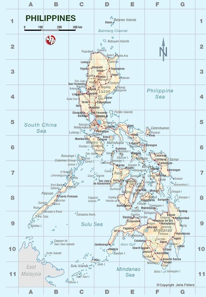 Karte Philippinen.Philippinen Travel Karte Map Jens Peters Publikationen